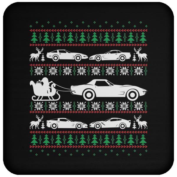 Wheel Spin Addict Corvette C4 C5 C6 C7 Christmas Coaster