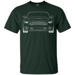 S550 GT Ford Mustang Outline T-Shirt