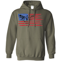 Bald Eagle American Flag America Merica Murica Automotive Flag Pullover Hoodie