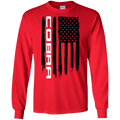 Cobra Shelby Ford Mustang S550 S197 New Edge SN95 Foxbody American Flag T-Shirt Long Sleeve
