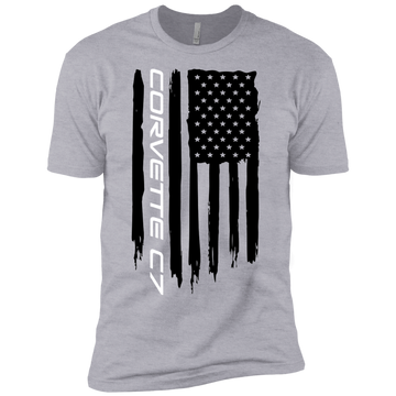 Youth Corvette C7 American Flag Boys' Cotton T-Shirt