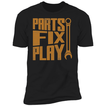 Parts Fix Play Mechanic Automotive Premium Short Sleeve T-Shirt