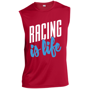 Racing is Life Sleeveless Performance T-Shirt