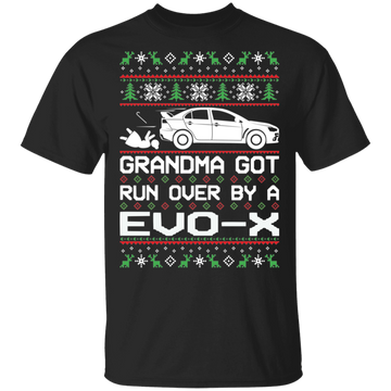 Evo X Evolution Mitsubishi Ugly Christmas T-Shirt