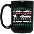 Wheel Spin Addict Mustang Christmas 15 oz. Black Mug