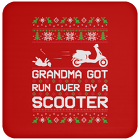 Wheel Spin Addict Scooter Moped Hipster Christmas Coaster