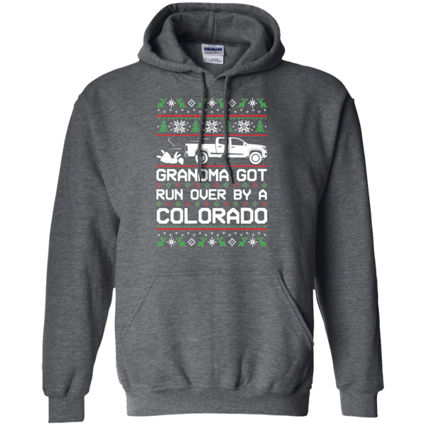Chevy Colorado Grandma Got Run Over Ugly Christmas Pullover Hoodie