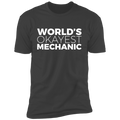 World's Okayest Mechanic Funny Automotive Premium Short Sleeve T-Shirt