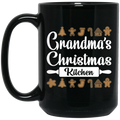 Wheel Spin Addict 15 oz Mug, Grandma's Christmas Kitchen Cookies Black Mug