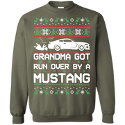 S550 Grandma Got Run Over by a Mustang Ugly Christmas Sweater Pullover Sweatshirt
