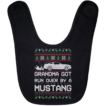 Wheel Spin Addict S197 Mustang Christmas Baby Bib