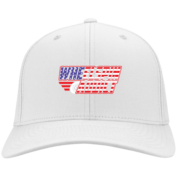 WheelSpinAddict Logo Flex Fit Twill Baseball Cap