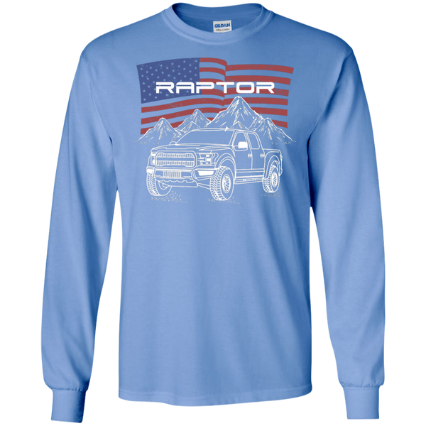 Ford F-150 Raptor American Flag Long Sleeve T-Shirt