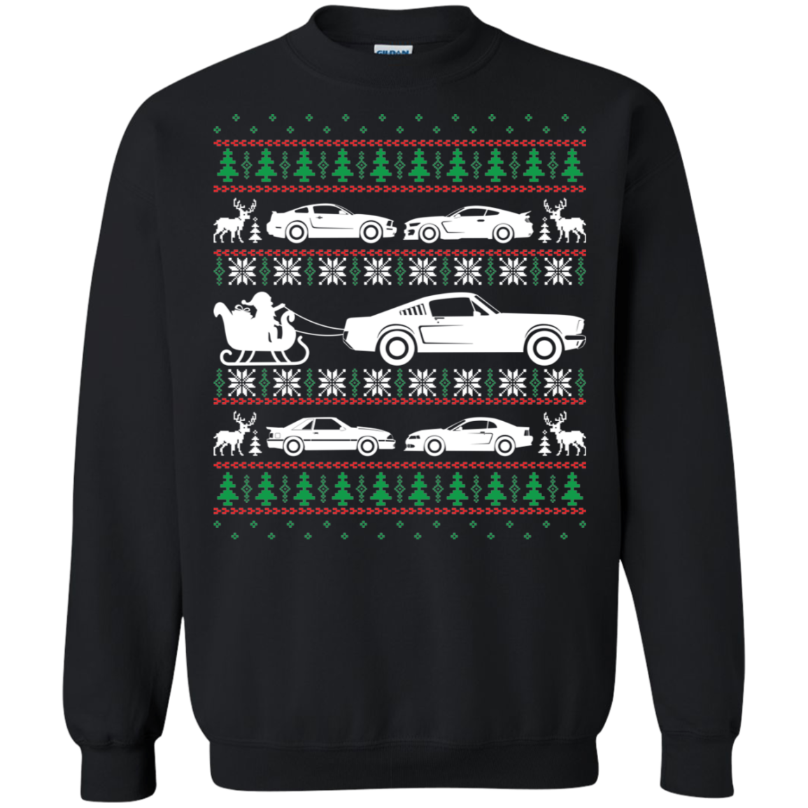 Ford Mustang Ugly Christmas Sweater Pullover Sweatshirt  Foxbody Ford S550 S197 SN95 New Edge