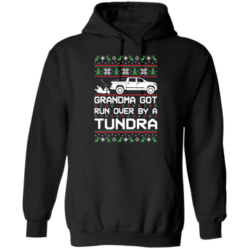 Toyota Tundra Ugly Christmas Grandma Got Run Over Pullover Hoodie