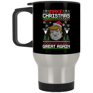 Wheel Spin Addict Trump USA Christmas Stainless Travel Mug