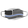Police Thin Blue Line American Flag Med/Lg Face Mask