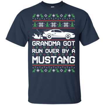 SN95 Ford Mustang Ugly Christmas Grandma Got Run Over T-Shirt 1994-1998