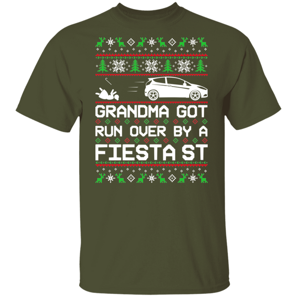 Ford Fiesta ST FiST Grandma Got Run Over Ugly Christmas T-Shirt