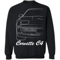 WSA Chevy Corvette C4 Outline Crewneck Sweatshirt