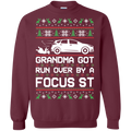 Ford Focus ST Ugly Christmas Grandma Got Run Over by a Focus ST Pullover Sweatshirt