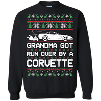 Chevy Corvette C5 Ugly Christmas Grandma Got Run Over by a Corvette Pullover Sweatshirt