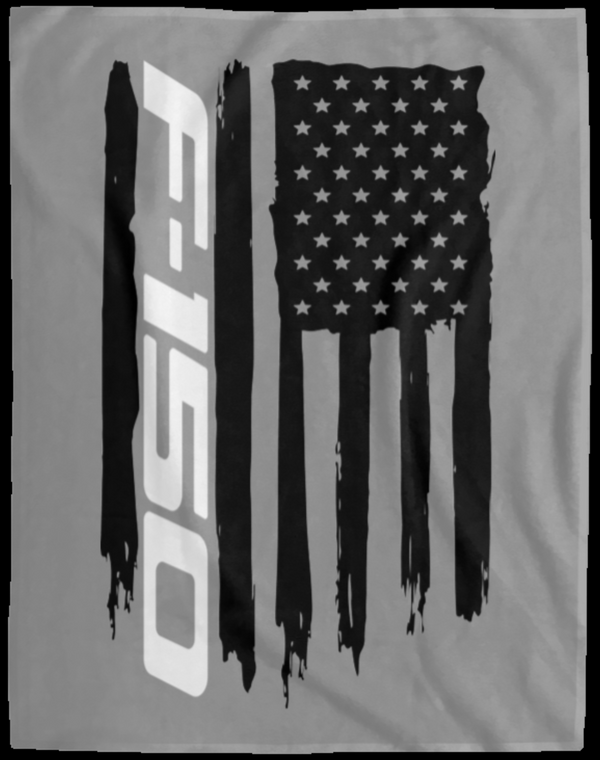 Ford F-150 American Flag Velveteen Micro Fleece Blanket - 60x80
