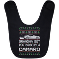 Wheel Spin Addict Camaro Christmas Baby Bib