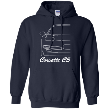 Chevy Corvette C5 Outline Pullover Hoodie