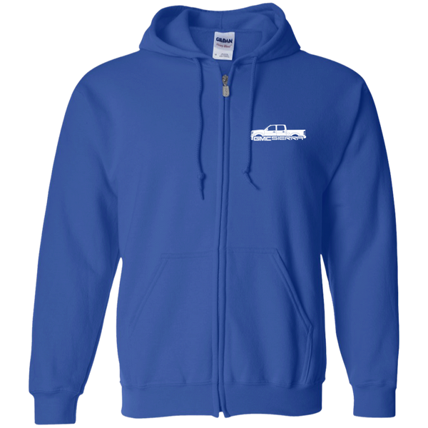 GMC Sierra Gildan Zip Up Hooded Sweatshirt
