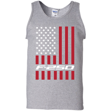F-250 Power Stroke Super Duty American Flag USA Tank Top