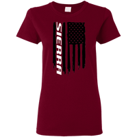 GMC Sierra 1500 2500 3500 American Flag Ladies' T-Shirt