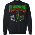 Christmas Tree Drag Light Mustang vs Camaro Crewneck Ugly  Sweater Pullover Sweatshirt