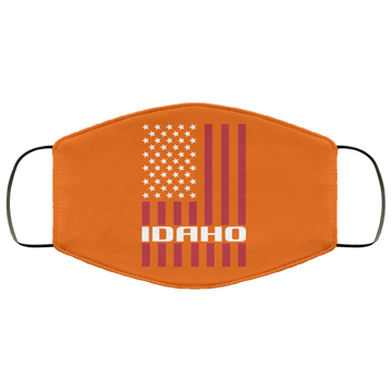 Idaho American Flag Face Mask