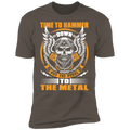 Hammer Down Pedal to the Metal Bearded Piston Skull Premium Short Sleeve T-Shirt