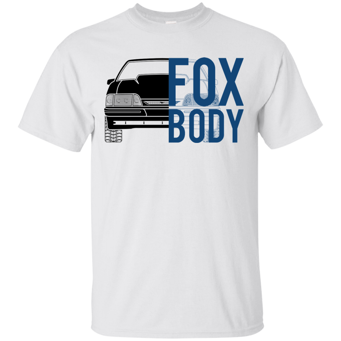 Foxbody Mustang LX Double Sided T Shirt