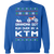 KTM Dirt Bike Motorcycle Ugly Christmas Grandma Got Run Over Crewneck Sweatshirt