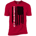 Youth Corvette C3 American Flag Boys' Cotton T-Shirt