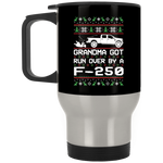 Wheel Spin Addict F250 F-250 Truck Christmas Stainless Travel Mug