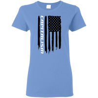 Capitalism American Flag Ladies' T-Shirt