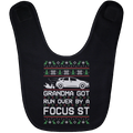 Wheel Spin Addict Focus ST Christmas Baby Bib