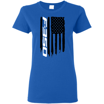 Ford F-350 Truck Super Duty PowerStroke XLT Platinum King Ranch Lariat American Flag Ladies' T-Shirt