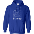 Chevy Corvette C3 Outline Pullover Hoodie