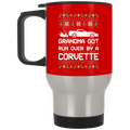 Wheel Spin Addict Corvette C6 Christmas Stainless Travel Mug