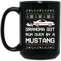 Wheel Spin Addict Mustang Foxbody Christmas 15 oz. Black Mug