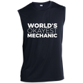 World's Okayest Mechanic Automotive Sleeveless Performance T-Shirt