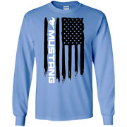 Ford Mustang American Flag Long Sleeve T Shirt Foxbody New Edge GT 5 0 Coyote S197 S550 SN95 New