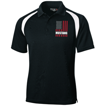 Mustang American Flag Moisture-Wicking Tag-Free Golf Shirt