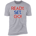 Ready Set Go! Racing Gapped Boosted Premium Short Sleeve T-Shirt