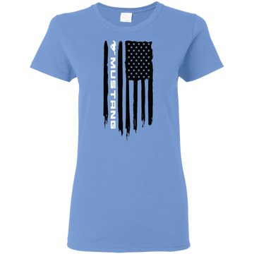 Mustang Ford S550 S197 New Edge SN95 Foxbody Cobra 5.0 Coyote American Flag Ladies' T-Shirt